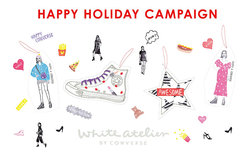 White atelier BY CONVERSE、「ハッピーホリデーキャンペーン」のお知らせ