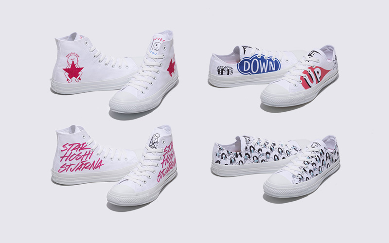 White atelier BY CONVERSE 新アーティストプリント スタート!