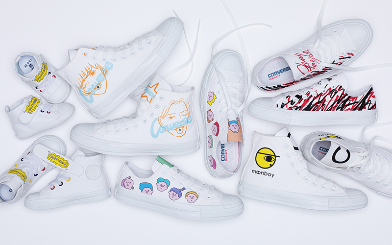 White atelier BY CONVERSEアーティストプリントの新作登場!!